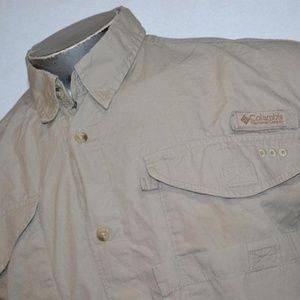 7670 Mens Columbia PFG Fishing Shirt Size Large